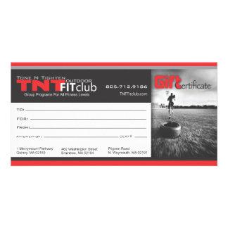 TNTgift Zertifikat Foto Karten Vorlage