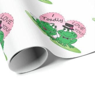 Toadly Liebe Sie Valentine Geschenkpapier