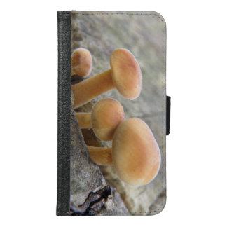 Toadstools auf einem Baum-Stamm-Samsung-Fall Geldbeutel Hülle Für Das Samsung Galaxy S6