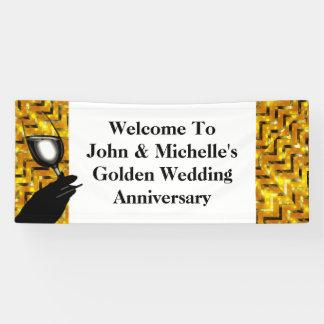 Toast | der goldenen Hochzeit personifizieren Banner