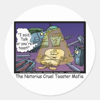 Toast-Mafia-lustige Offbeat Cartoon-Geschenke u. Runder Aufkleber