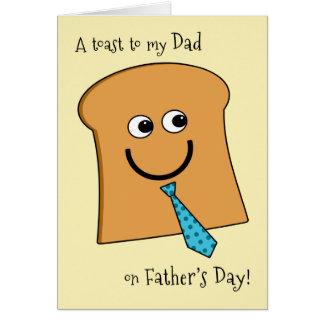 Toast zum Vati auf der Vatertags-Butter als die Karte