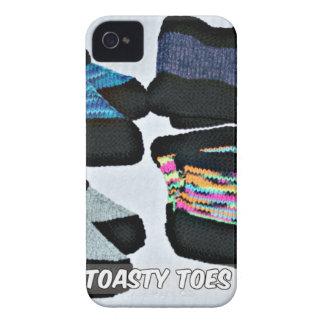 toasty Zehen stricken Pantoffel mit der Hand iPhone 4 Cover
