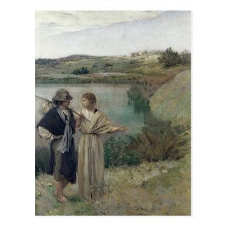 Tobias und das Erzengel-RAPHAEL Postkarte