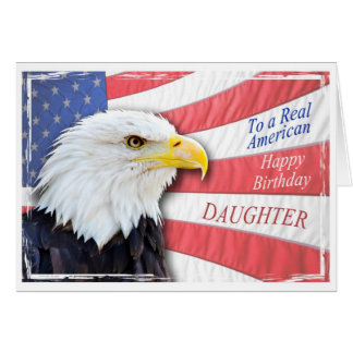 Tochter, eine patriotische Geburtstagskarte Karte