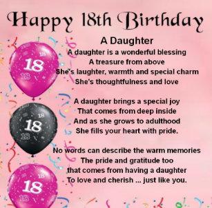 Der 18 Geburtstag Der Tochter Geschenke Zazzle De