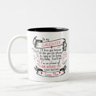 Tochter-Kaffee-Tassen-Geschenk von der stolzen Zweifarbige Tasse