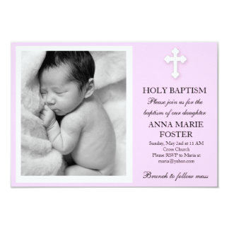 Tochter-Taufe 8,9 X 12,7 Cm Einladungskarte