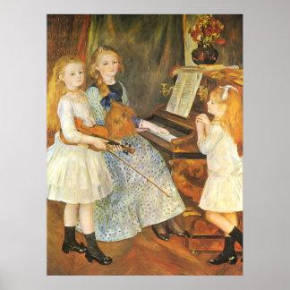 Töchter von Catulle Mendes durch Pierre Renoir Poster