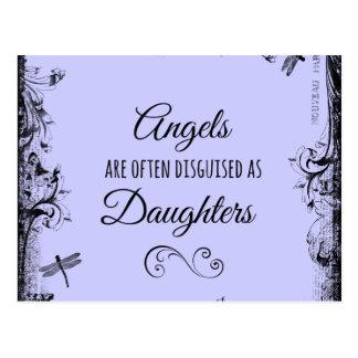Tochter-Zitat: Engel sind häufig Postkarten