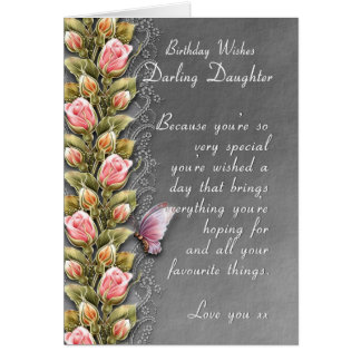 Tochtergeburtstagskarte - Geburtstagskarte mit Grußkarte