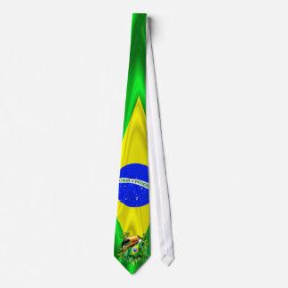 Toco Toucan mit Brasilien-Flaggen-Krawatte Personalisierte Krawatte