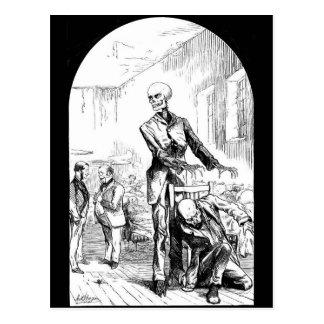 Tod als der wirkliche Wächter der schlechten Postkarte