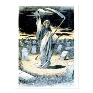 Tod, der Tonkin Postkarte belichtet
