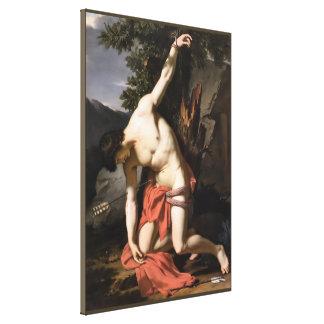 Tod des Heiligen Sebasian Leinwanddruck