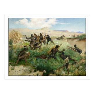 Tod des Prinzen Imperial durch Paul Jamin Postkarte