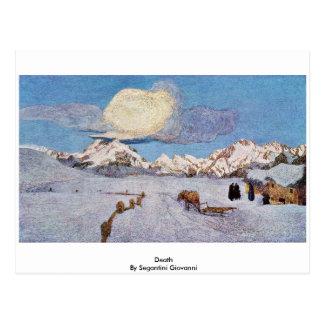 Tod durch Segantini Giovanni Postkarte