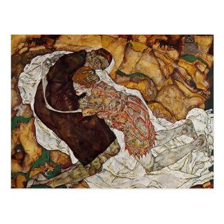 Tod Egon Schiele- und das Mädchen Postkarte
