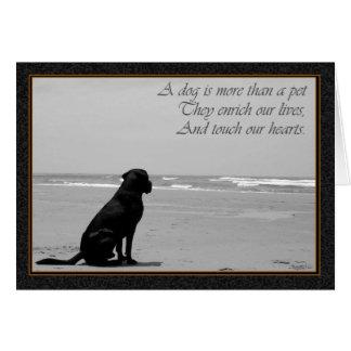 Tod eines Haustieres, Hundetod, traurig, Hund, der Grußkarte