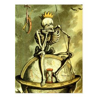 Tod erobert die Kugel Postkarte