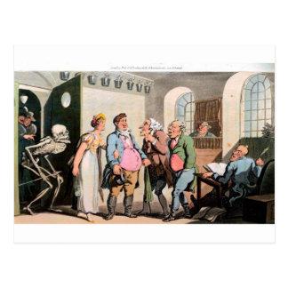 Tod in der Gerichtspostkarte Postkarte