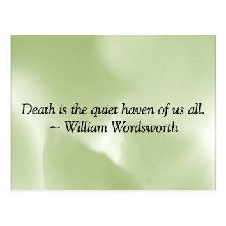 Tod ist ein ruhiger Hafen Postkarte
