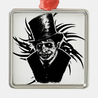 Tod Quadratisches Silberfarbenes Ornament