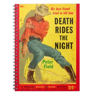 Tod reitet den NachtWestern-Bucheinband Notizblock