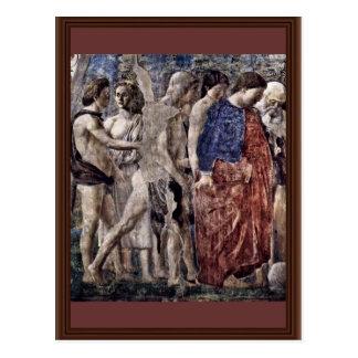 Tod und Beerdigung von Adam. Detail., durch Piero Postkarten