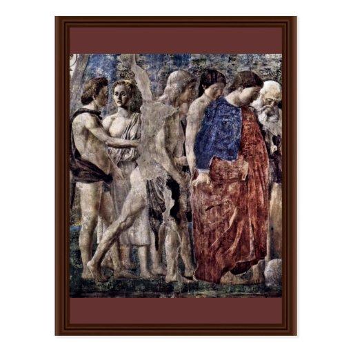 Tod und Beerdigung von Adam. Detail., durch Piero Postkarte