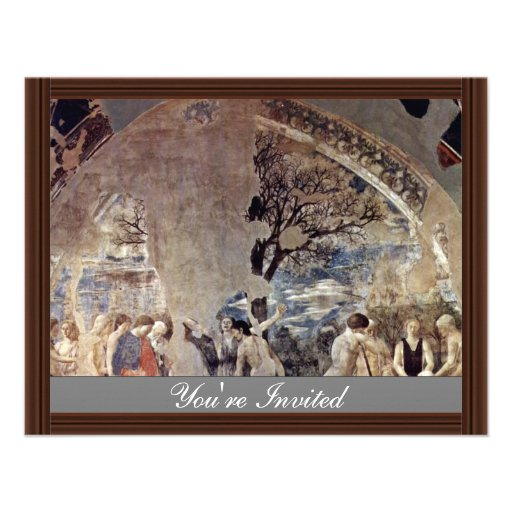 Tod und Beerdigung von Adam., durch Piero Della Ankündigung