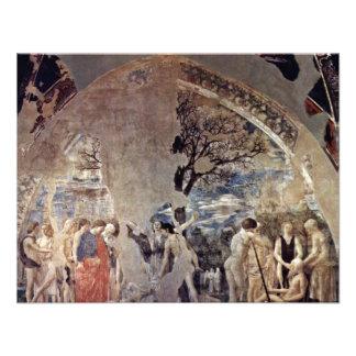 Tod und Beerdigung von Adam durch Piero Della Personalisierte Einladungskarte