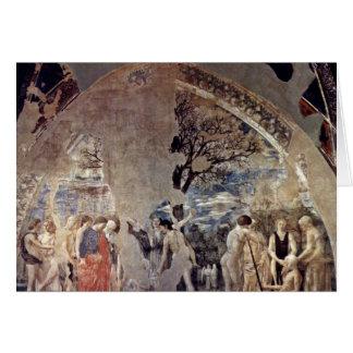 Tod und Beerdigung von Adam., durch Piero Della Grußkarte