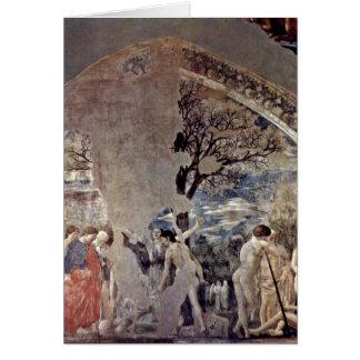Tod und Beerdigung von Adam durch Piero della Grußkarte