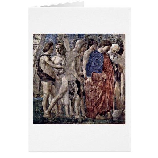 Tod und Beerdigung von Adam durch Piero della Karten