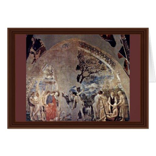 Tod und Beerdigung von Adam., durch Piero Della Grußkarten