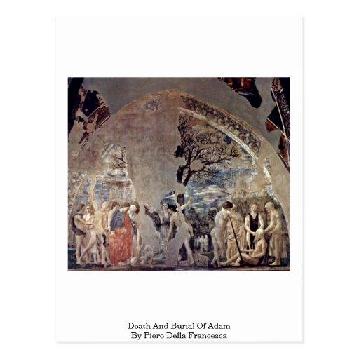 Tod und Beerdigung von Adam durch Piero della Postkarte