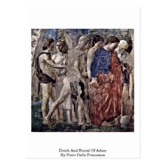Tod und Beerdigung von Adam durch Piero della Postkarten
