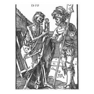 Tod und das Landsknecht durch Albrecht Durer Postkarte