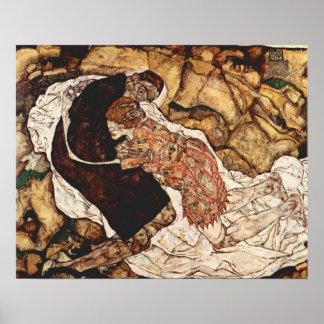 Tod und das Mädchen durch Egon Schiele Poster