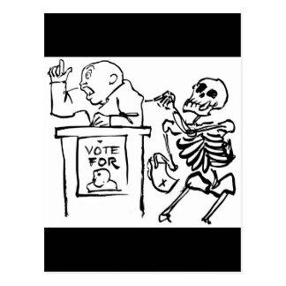 Tod und der Politiker circa 1951 Postkarte