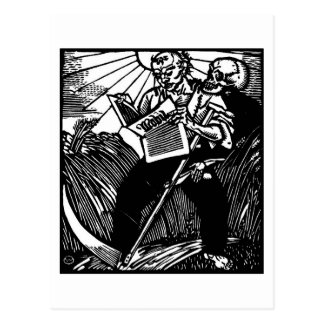 Tod und die Bauerspostkarte Postkarte