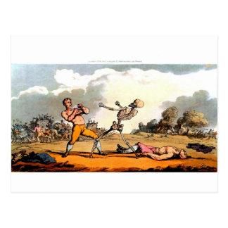 Tod und die Boxerpostkarte Postkarte