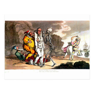 Tod und die Zirkuspostkarte Postkarte