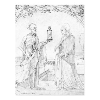 Tod und Ehefrau durch Albrecht Durer Postkarte