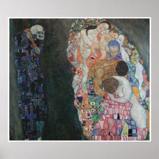 Tod und Leben Gustav Klimt Poster