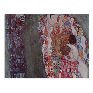 Tod und Leben Gustav Klimt- Postkarte