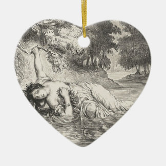 Tod von Ophelia Keramik Herz-Ornament
