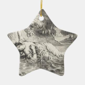 Tod von Ophelia Keramik Stern-Ornament