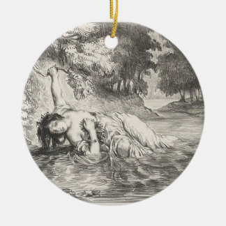 Tod von Ophelia Rundes Keramik Ornament